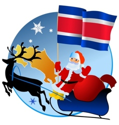 Merry Christmas Costa Rica vector image