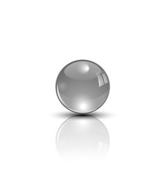 metal sphere on mirror surface vector image
