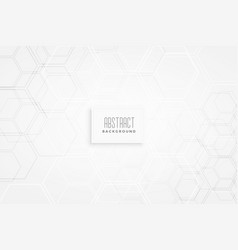 minimal hexagonal white pattern background vector image