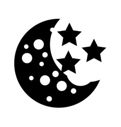 Natural satellite moon icon vector