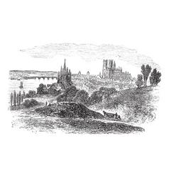 Orleans France vintage engraving vector image