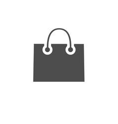 Paper shopping bag icon isolated on white vector