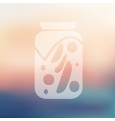 Pickled vegetables icon on blurred background vector