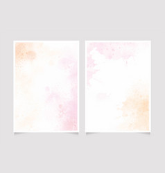 pink and gold watercolor splash background 5x7 vector image