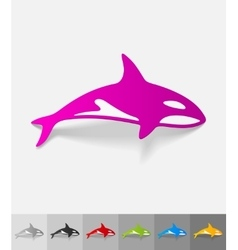 realistic design element whale vector image