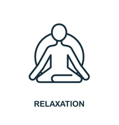 Relaxation icon from alternative medicine vector