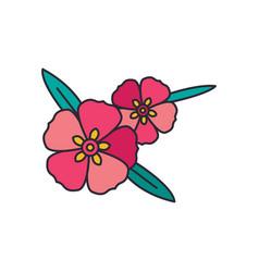 rock rose icon cartoon style vector image