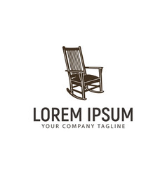 Rocking chair logo design concept template vector