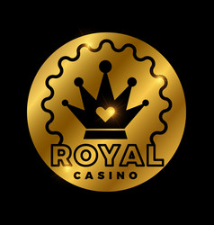 Royal casino golden design vector