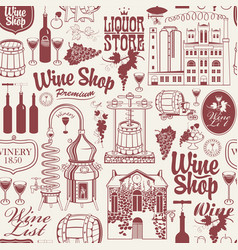 seamless pattern on theme winery vector image