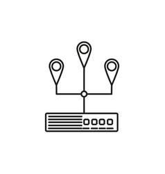Server location icon vector