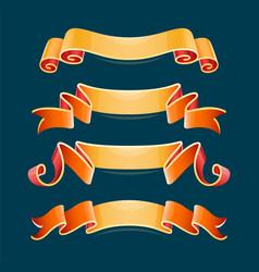 set of decorative ribbons vector image