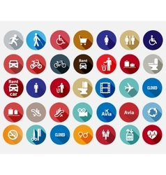 set of information icons flat design vector image