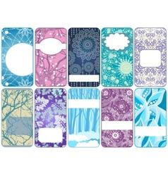 Set of ten beautiful winter cards vector image