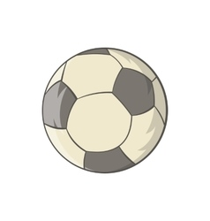 Soccer ball icon in cartoon style vector image