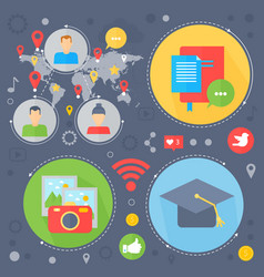 social network and social media flat concept vector image