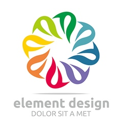 Spin colorful element design symbol icon vector