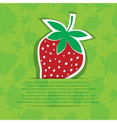 Strawberry in pocket banner on seamless vector image