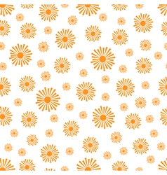 Stylized orange sun rays pattern vector
