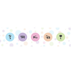Tow icons vector