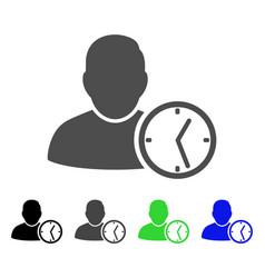 User temporary clock flat icon vector