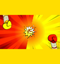 versus letters fight background vector image
