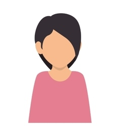 woman girl female face vector image