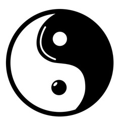 yin yang symbol taoism icon simple style vector image