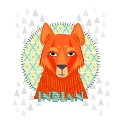 American indians jackal vector