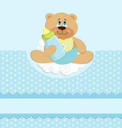babies greetings card vector image