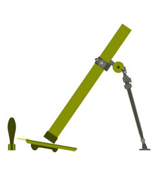 military mortar army icon bomb isolated symbol vector image