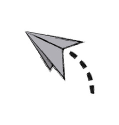 paper airplane strategy business start up vector image