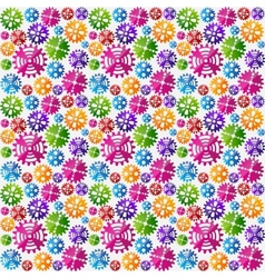 Seamless gears background vector image vector image