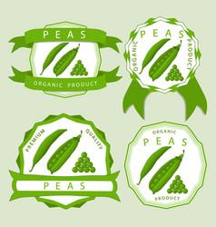 The green peas vector