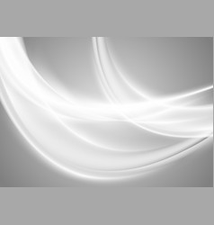 Abstract smooth blurred grey waves background vector