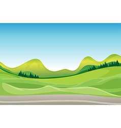 Countryside Road vector image vector image