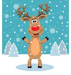 red nosed reindeer vector image vector image