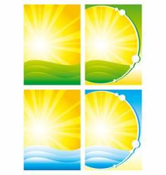 Summer backgrounds vector