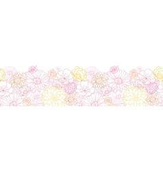 Wedding bouquet flowers horizontal seamless vector image