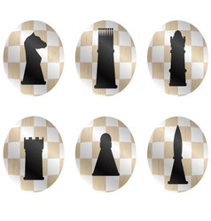 Chess figures icon set vector image