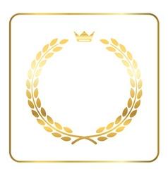 Gold laurel wreath crown golden vector