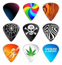 guitar picks vector image