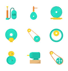 Industrial icons set cartoon style vector