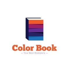 paper style bookstore logo Multicolor flat vector image vector image