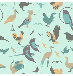 Birds seamless pattern flat style vector image vector image