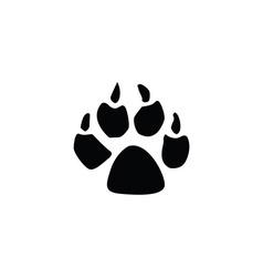 dog footprint vector image