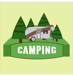 RV camping Logo and badge vector image vector image