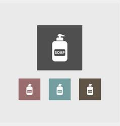 soap icon simple barbershop vector image