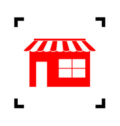 store sign red icon inside vector image