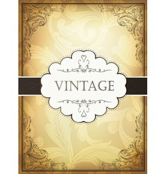 vintage background with ornamental frame vector image